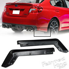 MATTE BLACK FOR SUBARU WRX 4TH SEDAN REAR SIDE BUMPER LIP SPLITTERS