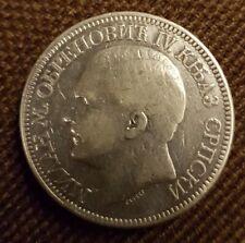 Serbien 5 Dinara 1879 Silber Original RAR!