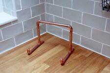Copper pipe - cookbook recipe book holder / iPad stand  /shabby chic rustic look
