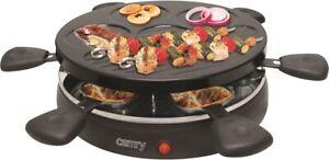Grill con 6 tegami da raclette con piastra grill removibile 1200W cr_6606