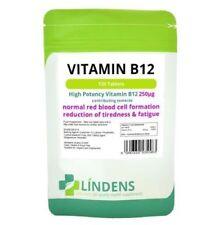 Lindens Vitamin B12 250mcg High Potency x 120 Tablets Health Supplement Fatigue
