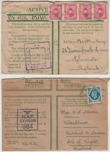 1940/? 2x BRITISH FORCES in EGYPT 2x CENSOR covers GLOUCESTER, ISLE OF WIGHT