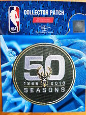 Official Licensed NBA Milwaukee Bucks 50th Anniversary Iron/Sew On Patch 2017/18