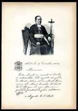 Monseigneur DUC....biographie, autographe, et portrait gravé sur bois 1896