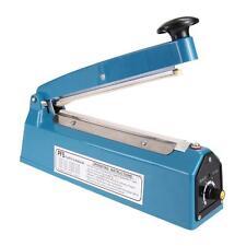 "8"" Heat Sealing Impulse Manual Teflon Sealer Machine Poly Tubing Plastic Bags"