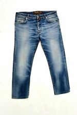 Jacob Cohen JEANS '688 COMFORT Denim Jeans Faded Flared Stretch W35 Luxury SUPER