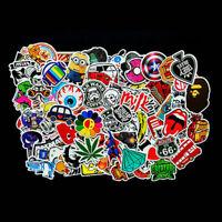 Pack of 100 Random Vinyl Laptop Skateboard Stickers Luggage Decals Stickers