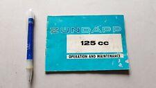 Zundapp GS 125 KS 125 manuale uso originale testo inglese moto owner's manual