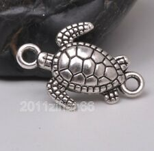 15pcs Tibetan silver charm Sea turtles beads Connectors findings 21mm B3114