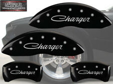 "Cursive Black 2006-2010 Dodge ""Charger"" R/T Front Rear MGP Brake Caliper Cover"