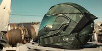 ICON AIRFLITE BATTLESCAR 2 CAMO REBEL URBAN MOTORCYCLE CRASH HELMET GREEN BLACK