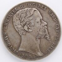 ITALIE SARDAIGNE 5 LIRE VICTOR EMMANUEL II 1854 B TURIN