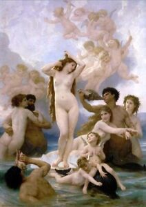 Famous Painting William Adolphe Bouguereau Song Of The Angels Printed On Canvas