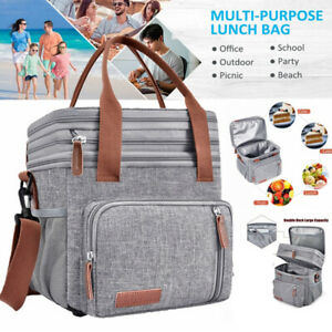 Lunch Bag Large Capacity Picnic Bag Insulated Lunch Tote Bag Leak-proof New