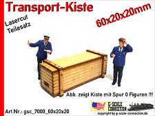 Spur 0 Lasercut 2x Transport Kiste 60x20x20mm aus Holz für z.B. Lenz Brawa MBW