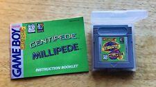 Nintendo Gameboy Arcade Classic 2 Centipede/Millipede Game/booklet. Used.