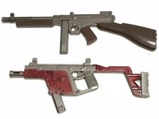"PUBG-(21+22): 1/12 scale metal Thompson & Vector Toy Guns for 6"" action figures"