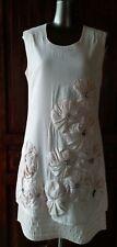 Off White Embellished Dress, size L