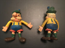 """LOT of (2) - Vintage Jack In The Box Hamburger Meister Figure Imperial Toy 3 ¼"""""""