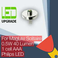 MagLite Solitaire LED Conversion/upgrade bulb Torch/flashlight 1AAA Cell Philips