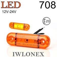 LED Umrissleuchte Seitenmarkierungsleuchte Gelb  PKW LKW 12V 24V ABE 708