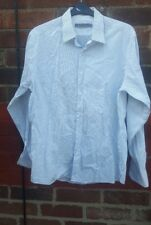 REISS Mens's Grey Striped shirt - Formal or Casual wear Xxl cotton  summer