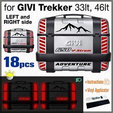 18pcs Rifrangenti Adesivi Nero Rosso compatibile Suzuki V-Strom 650 GIVI Trekker