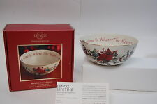 Lenox Winter Greetings Sentiment Bowl, NIB
