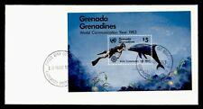 DR WHO 1983 GRENADA GRENADINES FDC WORLD COMMUNICATION YEAR S/S  g42447