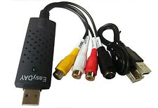Easyday Easycap USB 2.0 Audio Video VHS to DVD Converter Capture Card Adapter