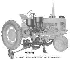Ih Mccormick Farmall C C 272 Runner Planter Side Dresser Owners Amp Parts Manual