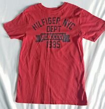 """TOMMY """" Hilfiger NYC Dept """" Deep Red Logo Top : Size M  8 - 10  Purchased@TH"""