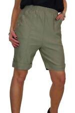 Shorts, bermuda e salopette da donna, taglia comoda verde in cotone