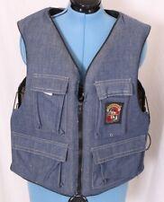 Stearns Sans Souci II Vtg Denim Hunting Fishing Life Jacket Vest Adult XL