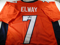 JOHN ELWAY / NFL HALL OF FAME / AUTOGRAPHED DENVER BRONCOS CUSTOM JERSEY / COA
