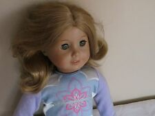 American Girl Just Like You Strawberry Blonde Brown Green Eyes Doll Pierced Ears