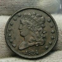 1834 Classic Head Half Cent - Nice Coin - Rare, Only 103,000 Minted (9304)