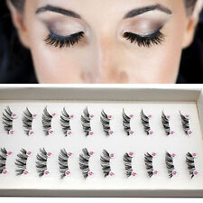 10 Pairs HALF/MINI/CONER WINGED CROSS Natural False eyelashes eye lashes Black