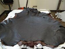 Genuine ostrich leather skin Black grade A 16 sqft