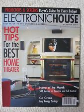 Electronic House Magazine October 2007 Hot Tips For The Best Home Theater