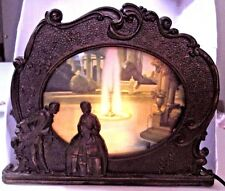 Antique Vtg Colonial Man Woman Fountain Metal Motion Lamp  1931 Works Great!
