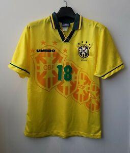 1996 Brazil Home S/S No.18 RONALDINHO RONALDO nazario 96 Olympic jersey trikot