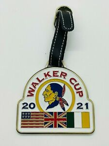 2021 Walker Cup Seminole Golf Club Brass Metal Bag Tag Unengraved Leather Strap