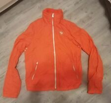 Vtg 90s Abercrombie and Fitch Jacket Women's Neon Orange Lined Jacket Size XL