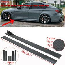 """Dodge Charger Carbon Fiber 86.6"""" Side Body Skirt Extension Rocker Panel Splitter"""