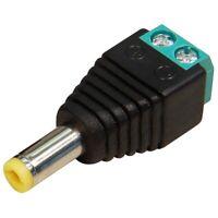 DC Adapter Terminal Stecker 5,5 x 2,1mm Lüsterklemme 2 Kontakte Schraubversion