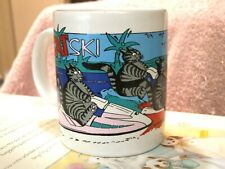 Kliban Cats On Ski Craft Mug By Gift Creations