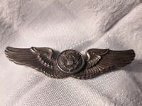 Vintage WW2 Us Army Air Force Sterling Silver Air Crew Wings NS Meyer