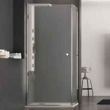 Box doccia 80x90 cm angolare battente cristallo opaco altezza 190 h reversibile