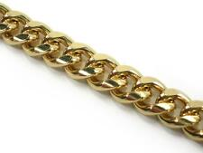 Very Solid 30inch Lg Curb chain 8mm wide 18k yellow gold layered 81gr. apprx.